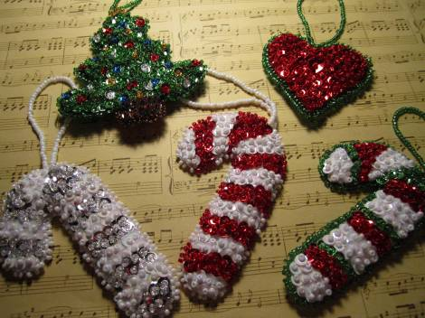 Beaded ornaments 012